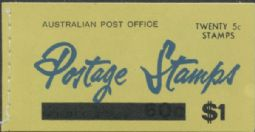 Australian Advertising Booklet ASCS B111 B.f. 1967 $1 Booklet, Provisional Cover (ABA/225)